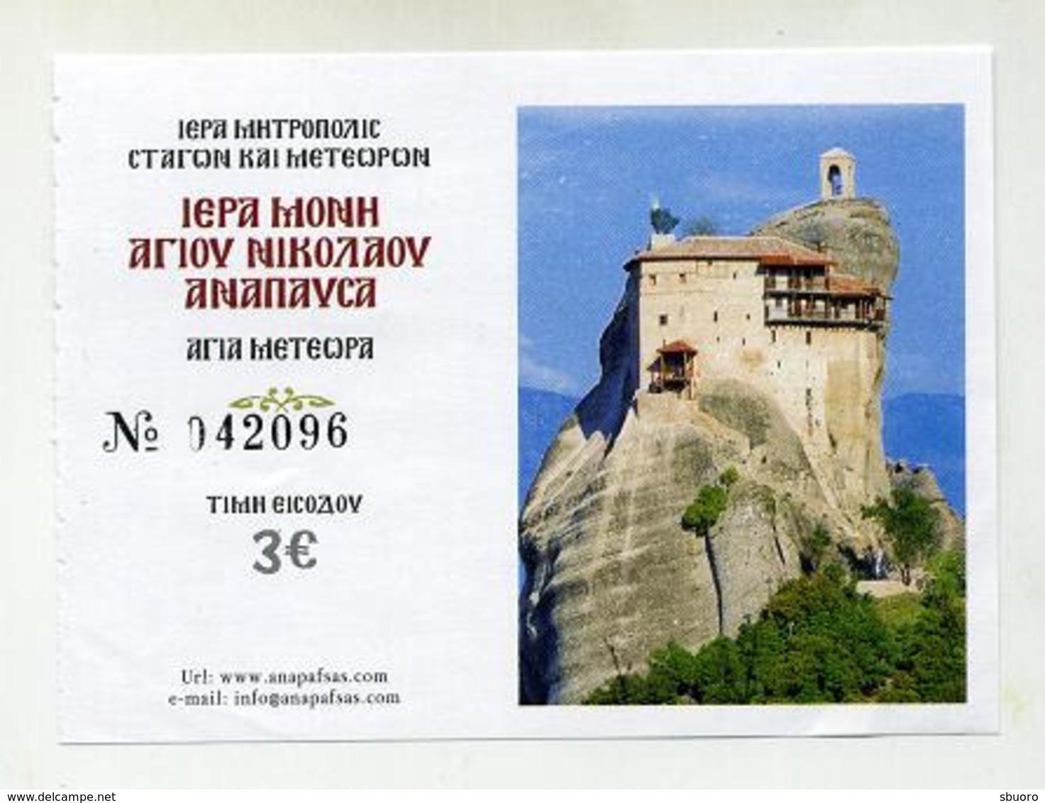 Météores Meteors - Monastère Holy Monastery Saint Nicolas - 2019 - Greece Grèce Griechenland - Tickets - Vouchers
