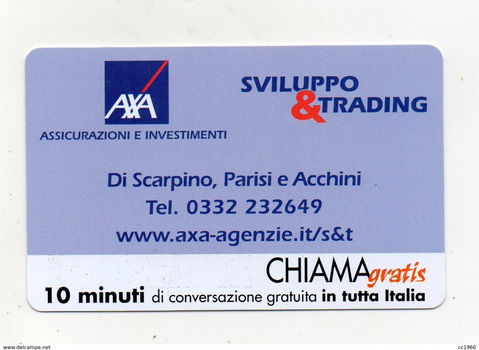 """Scheda Telefonica """" Chiama Gratis """"  Sviluppo & Trading - 10 Minuti - Nuova - Scadenza 15.3.2003 - (FDC17563) - Italia"""