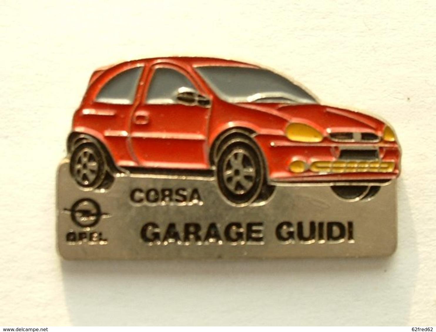 PIN'S OPEL CORSA - GARAGE GUIDI - Opel