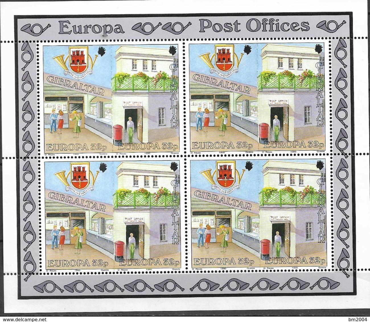 1990 Gibraltar  Mi.  590-3 Europa  Postalische Einrichtungen - Europa-CEPT
