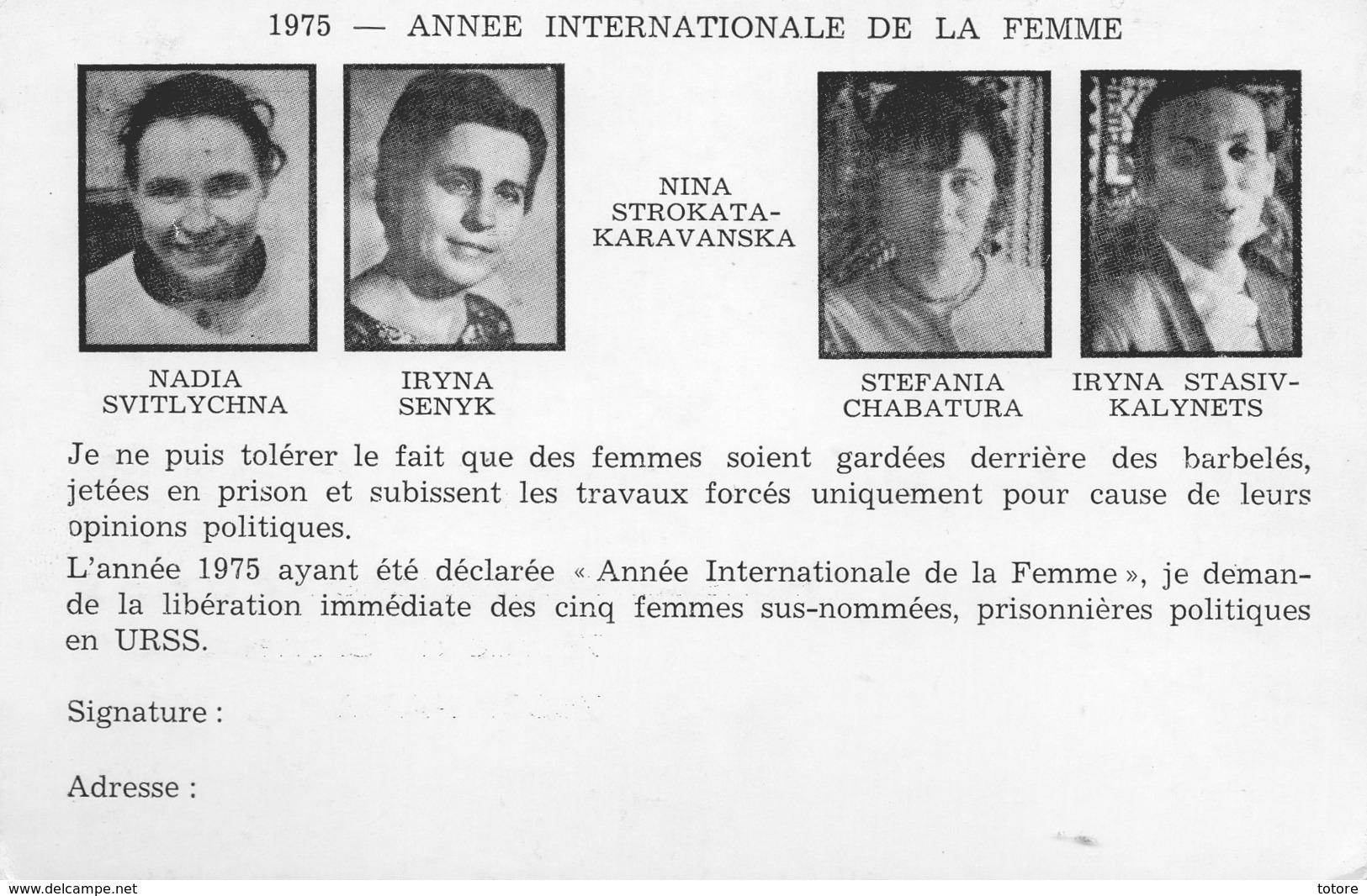 ANNEE INTERNATIONALE DE LA FEMME - Russie