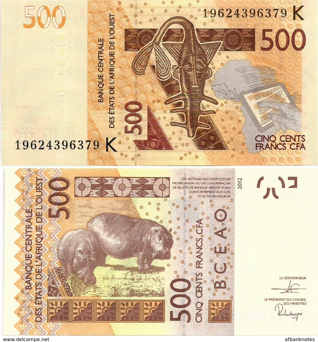 WEST AFRICAN STATES   K: Senegal        500 Francs       P-719K[h]       2012 - (20)19        UNC - West-Afrikaanse Staten