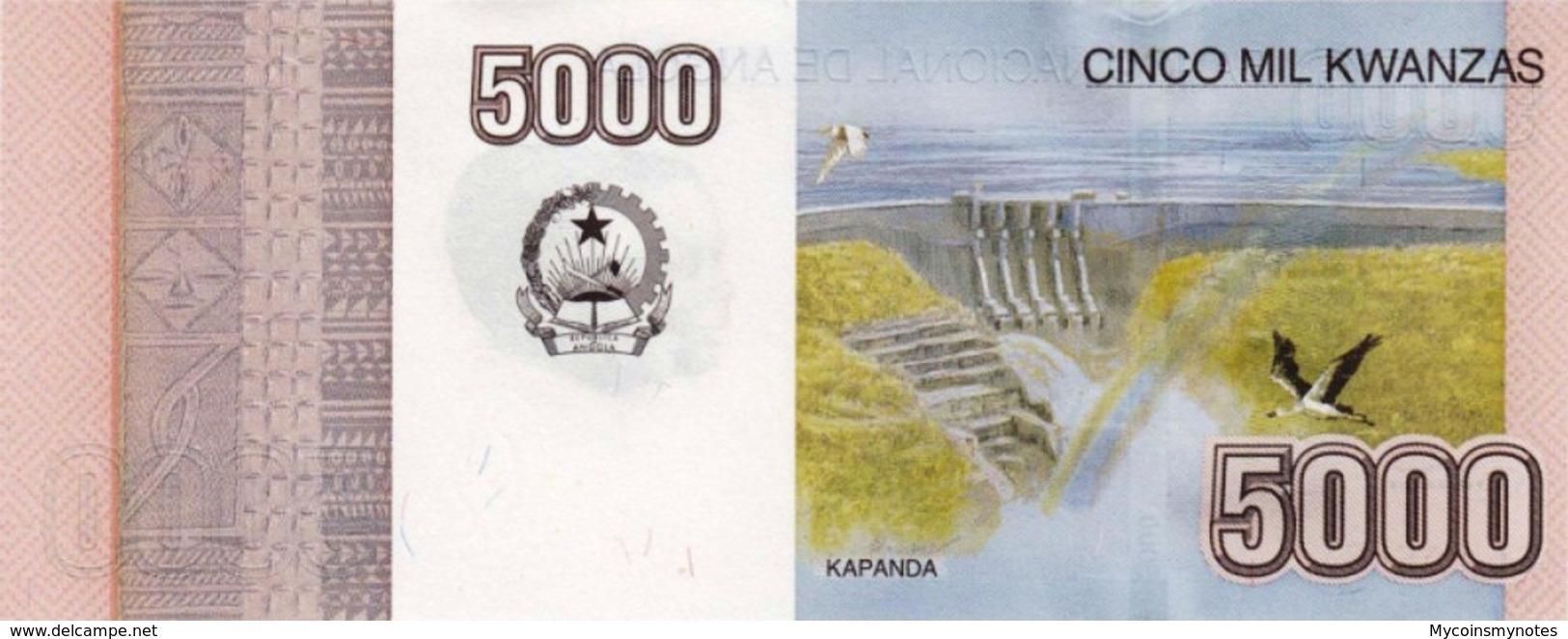 ANGOLA 5000 Kwanzas 2012 (2018) - Kapanda Falls, P158, UNC - Angola
