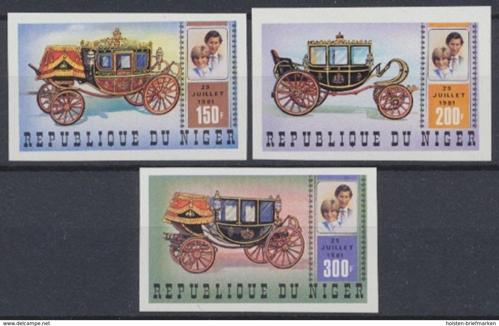 Niger, Michel Nr. 758-760 B, Postfrisch / MNH - Niger (1960-...)