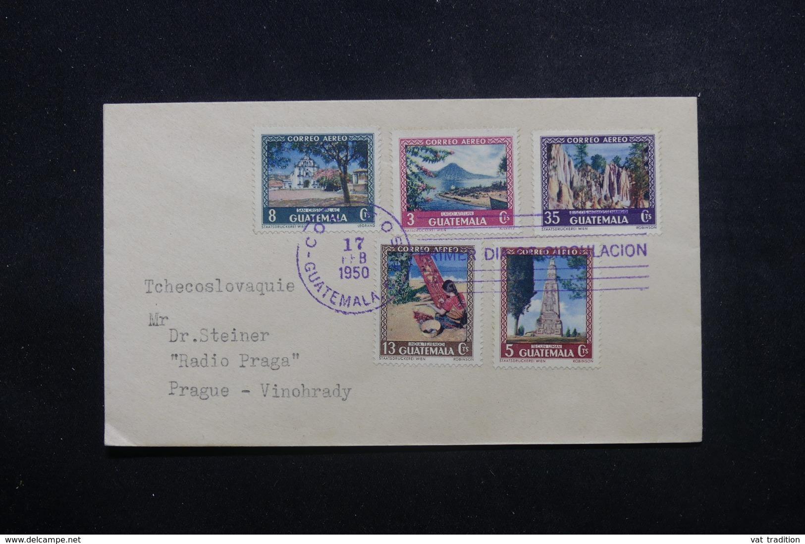GUATEMALA - Enveloppe Pour Prague En 1950, Affranchissement Plaisant - L 43974 - Guatemala