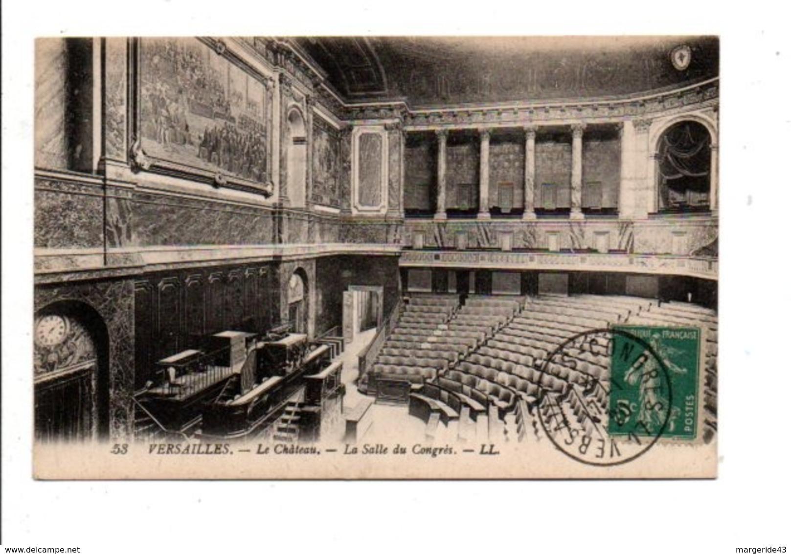 OBLITERATION VERSAILLES  CONGRES DE LA PAIX DU 17/1/1920 - Commemorative Postmarks