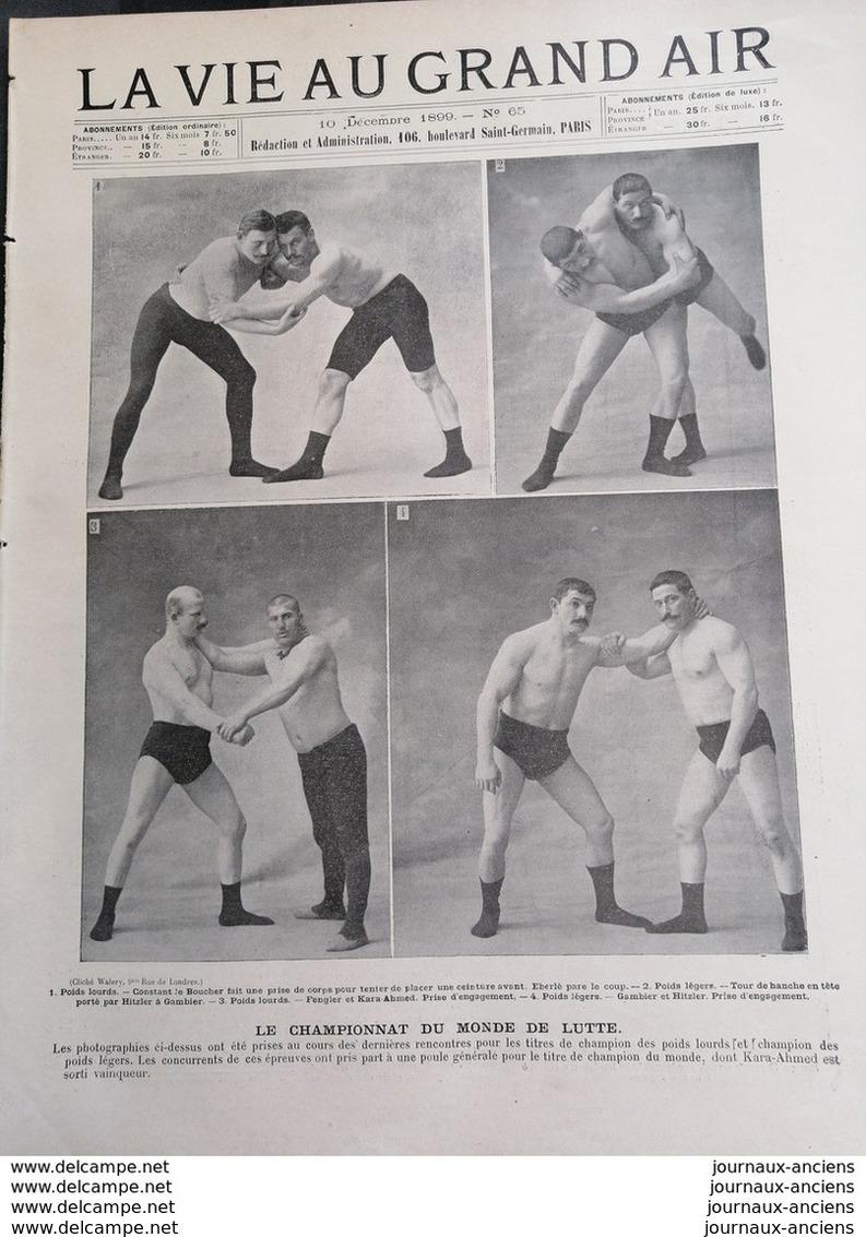 1899 LA VIE AU GRAND AIR - LE CHAMPIONNAT DU MONDE DE LUTTE - Books, Magazines, Comics