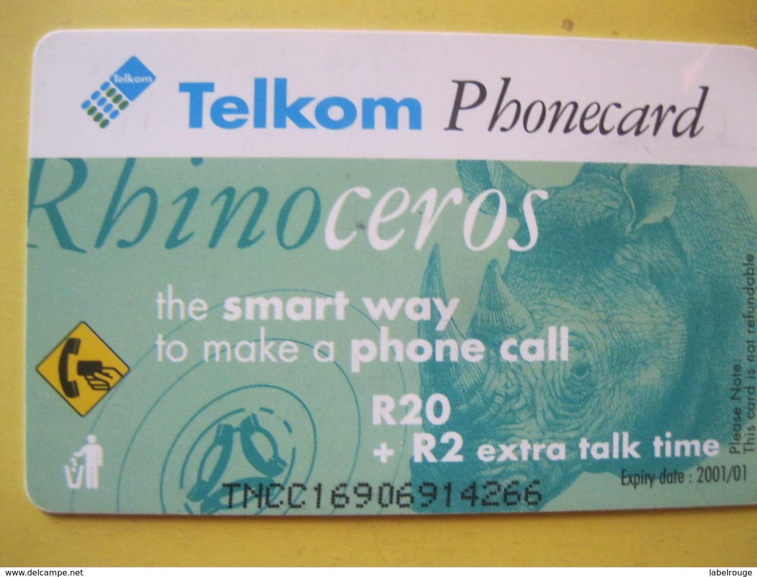 Télécarte D'Afrique Du Sud - Afrique Du Sud