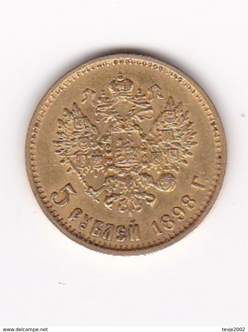 Wal_ Russland - 5 Rubel - 1898 - Gold - Rusia