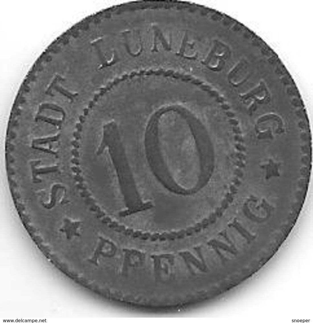 *notgeld  Luneburg  10 Pfennig ND/o.j.   Zn  310.2 - [ 2] 1871-1918 : Impero Tedesco