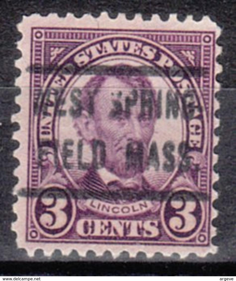 USA Precancel Vorausentwertung Preo, Locals Massachusetts, West Springfield 635-472 - Vereinigte Staaten
