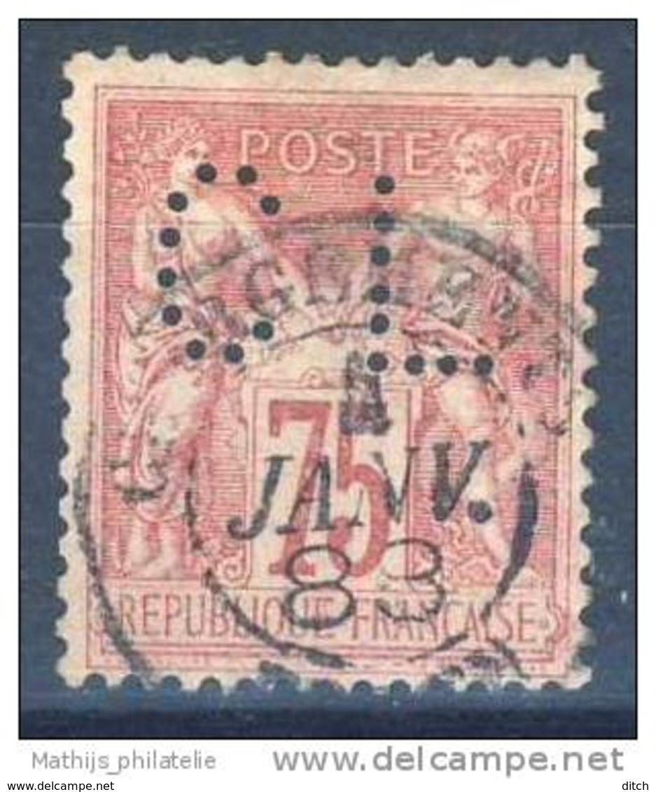 D - [DEL-308-18]TB//-N° 81 Oblitéré Et Perforé 'CL' Superbe - 1876-1898 Sage (Type II)