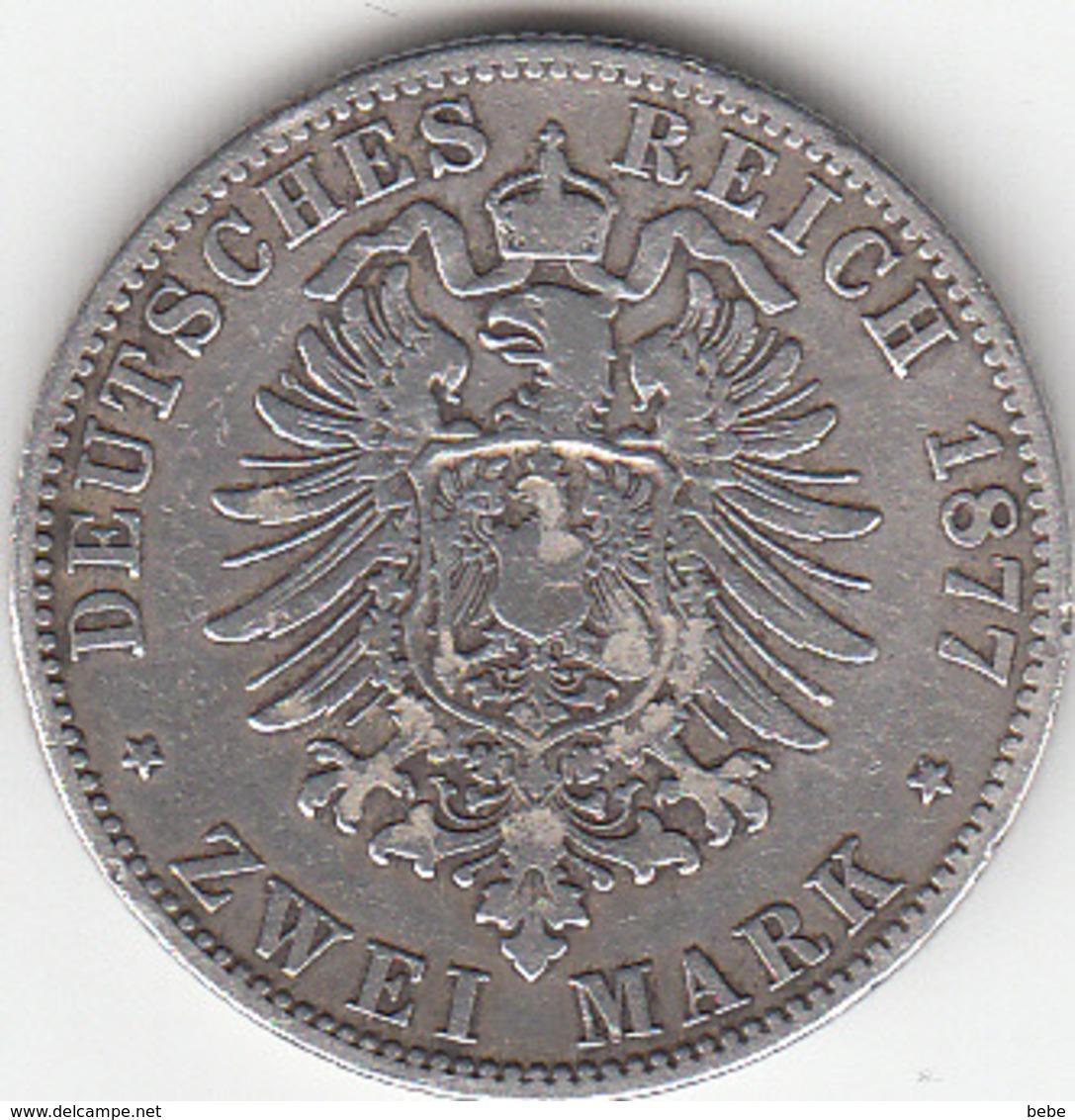 Etats Allemands, PRUSSIA, Wilhelm V,   2 Mark 1877  A SUPERBE - [ 2] 1871-1918 : German Empire