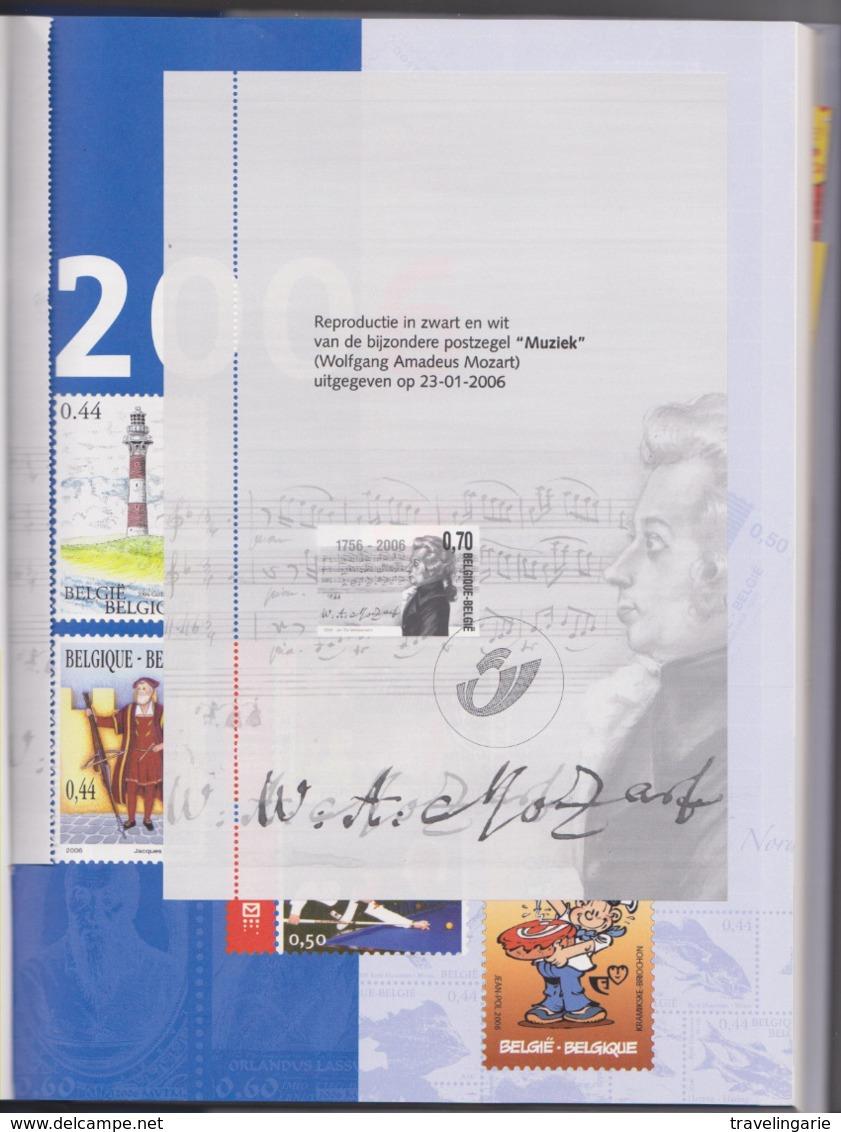 Belgium/Belgique 2006 Postal Diary With Mozart Blackprint MNH/Agenda Postale Avec Feuillet Noir/blanc Mozart ** - Zwarte/witte Blaadjes