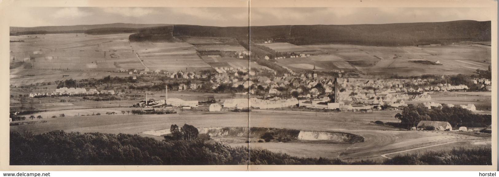 D-31848 Bad Münder - Totalansicht ( Panoramakarte- Klappkarte) - Bombentrichter ? - Hameln (Pyrmont)