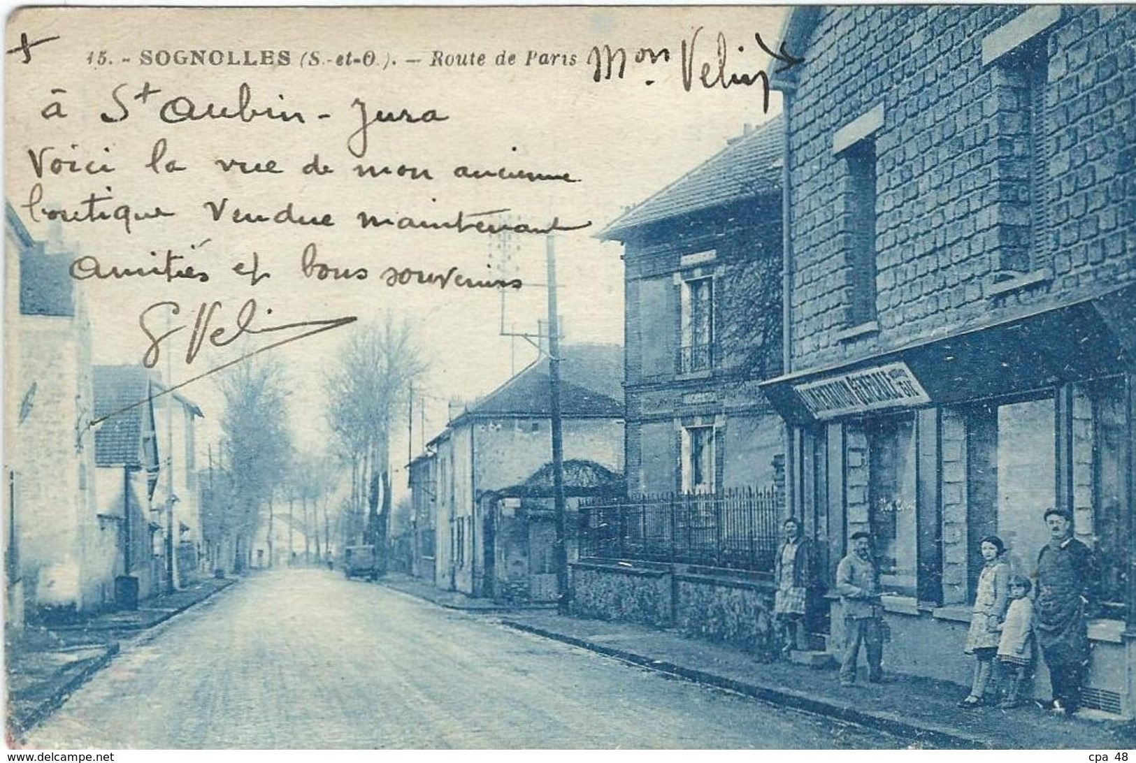Seine Et Marne : Sognolles, Route De Paris - France