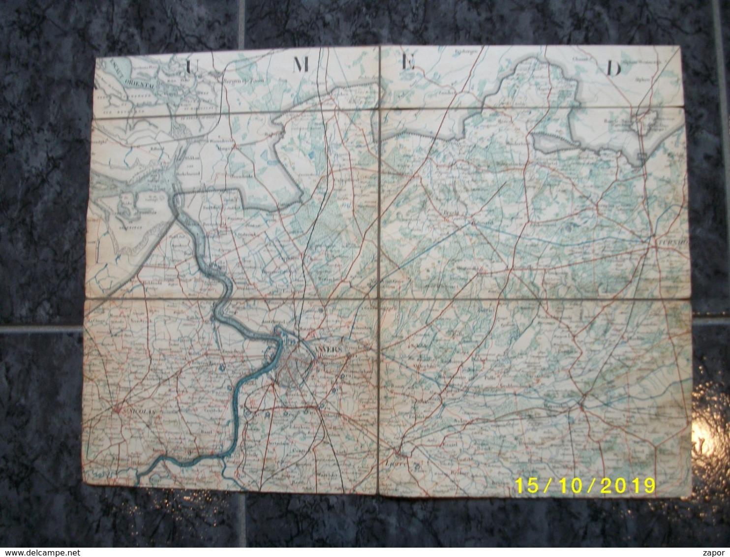 Topografische / Stafkaart Van Noord Antwerpen (Turnhout - Herentals - Essen - Meerle) - Topographische Kaarten
