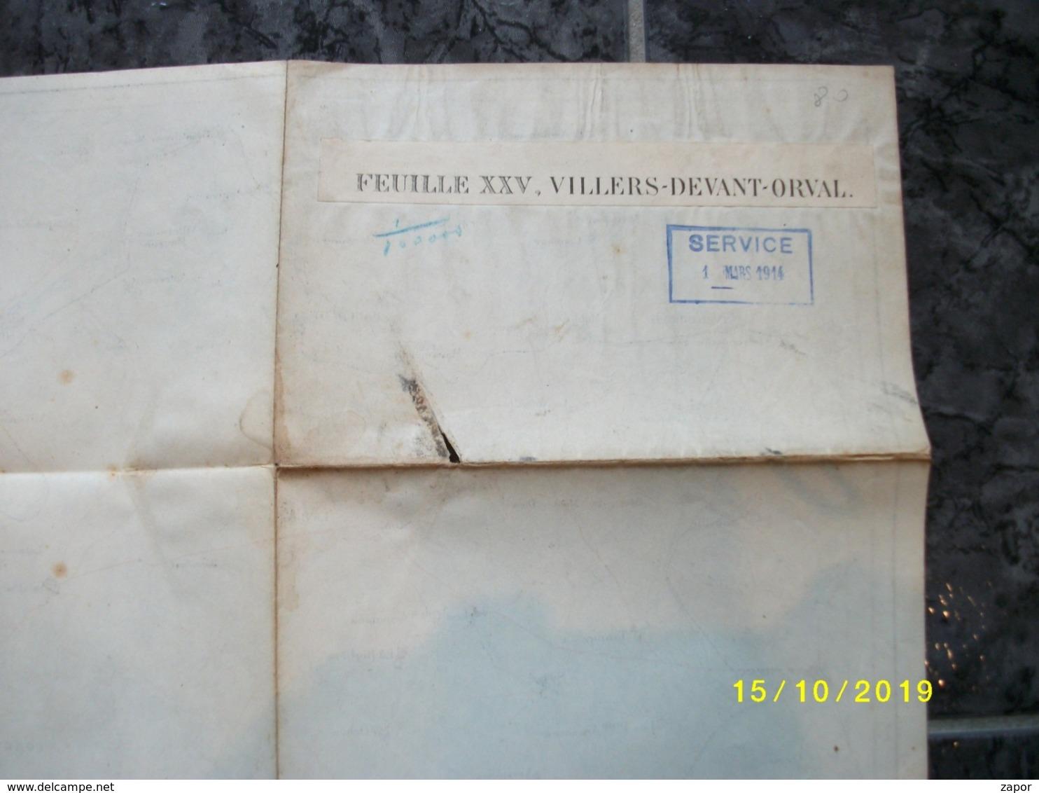 Carte Topographique De Villers-devant-Orval (Raucourt Stenay Beaumont Buzancy Limes) - Cartes Topographiques