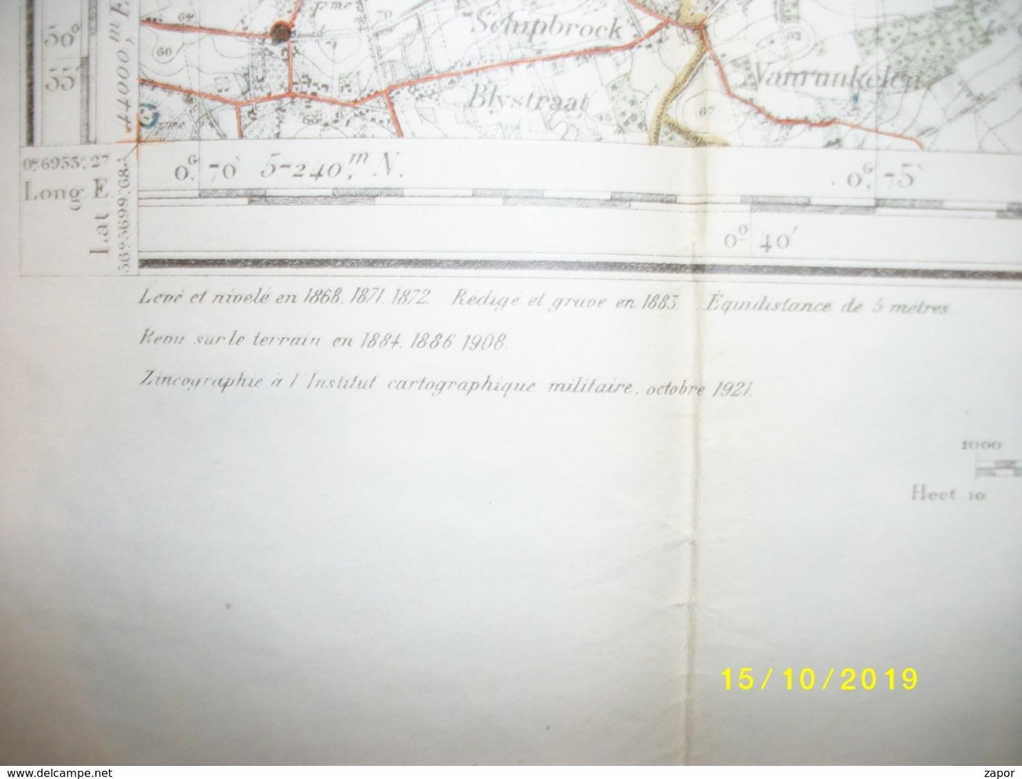 Topografische / Stafkaart Van Hasselt (Houthalen Zolder Beringen Spalbeek Meldert Tessenderlo) - Topographical Maps
