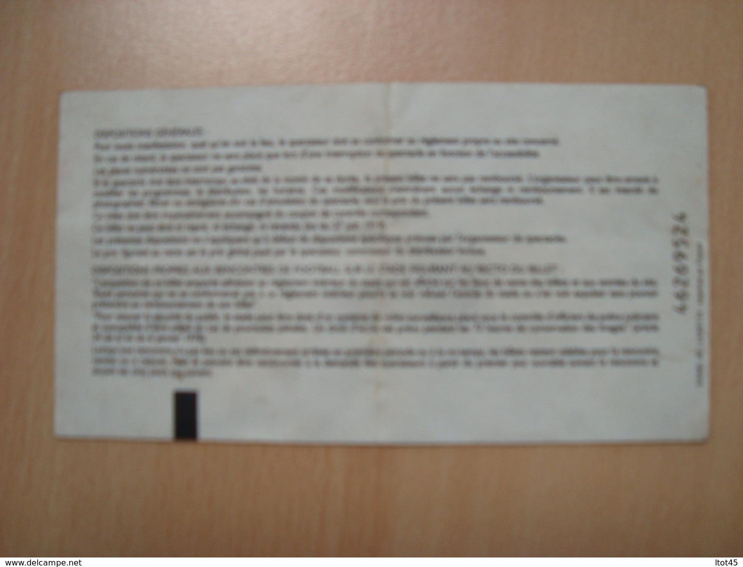 TICKET DE CONCERT INDOCHINE PARADIZE TOUR ACTE 3 PARIS BERCY 2003 - Tickets - Vouchers