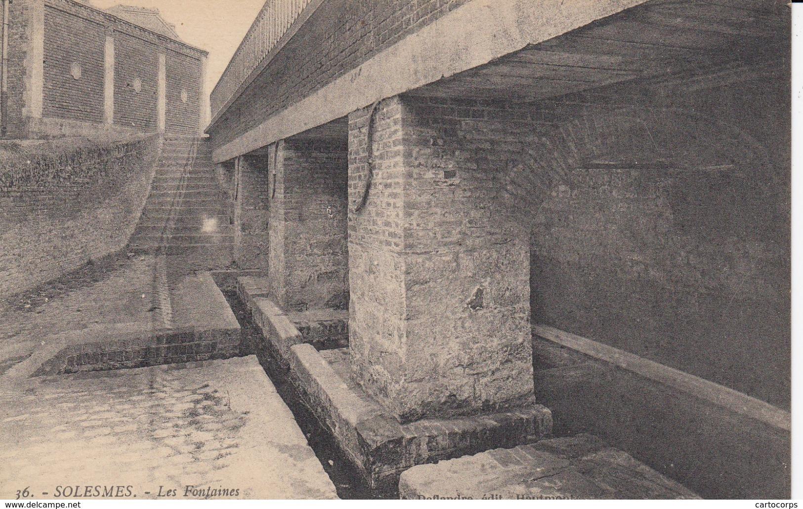59 - Solesmes - Beau Plan Des Fontaines - Solesmes