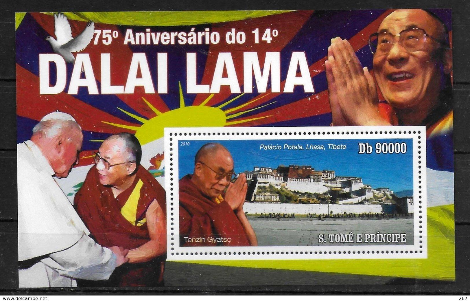 SAINT THOME ET PRINCE  BF 570 * *  ( Cote 16e )  Dalai Lama - Buddhism
