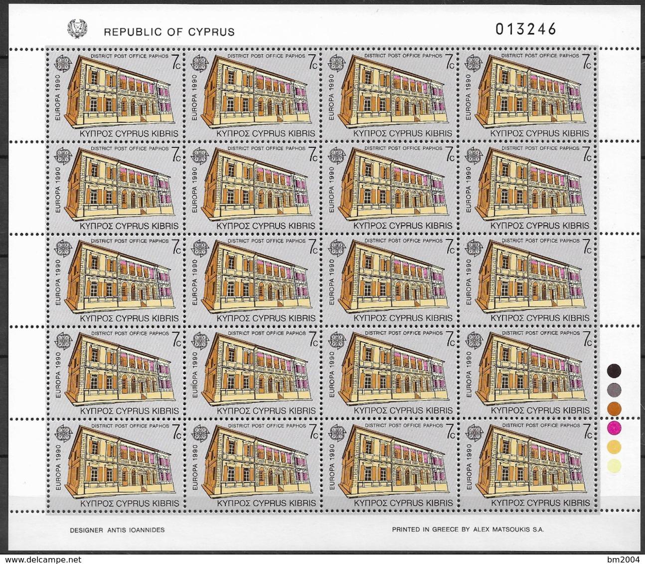1990 Zypern   Mi. 748-9**MNH   Europa  Postalische Einrichtungen - Europa-CEPT