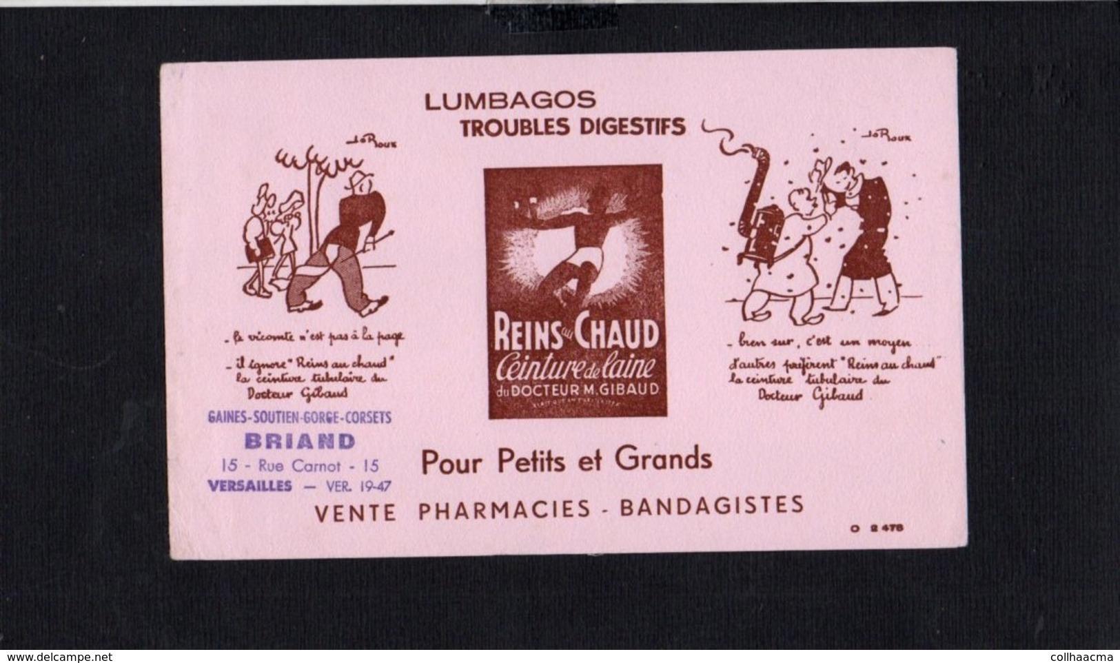 """Buvard Publicitaire / Ceinture De Laine  """" Reins Au Chaud """" Dessin Illustrateur Jo Roux ( Pub. Briand Versailles ) - Drogheria"""