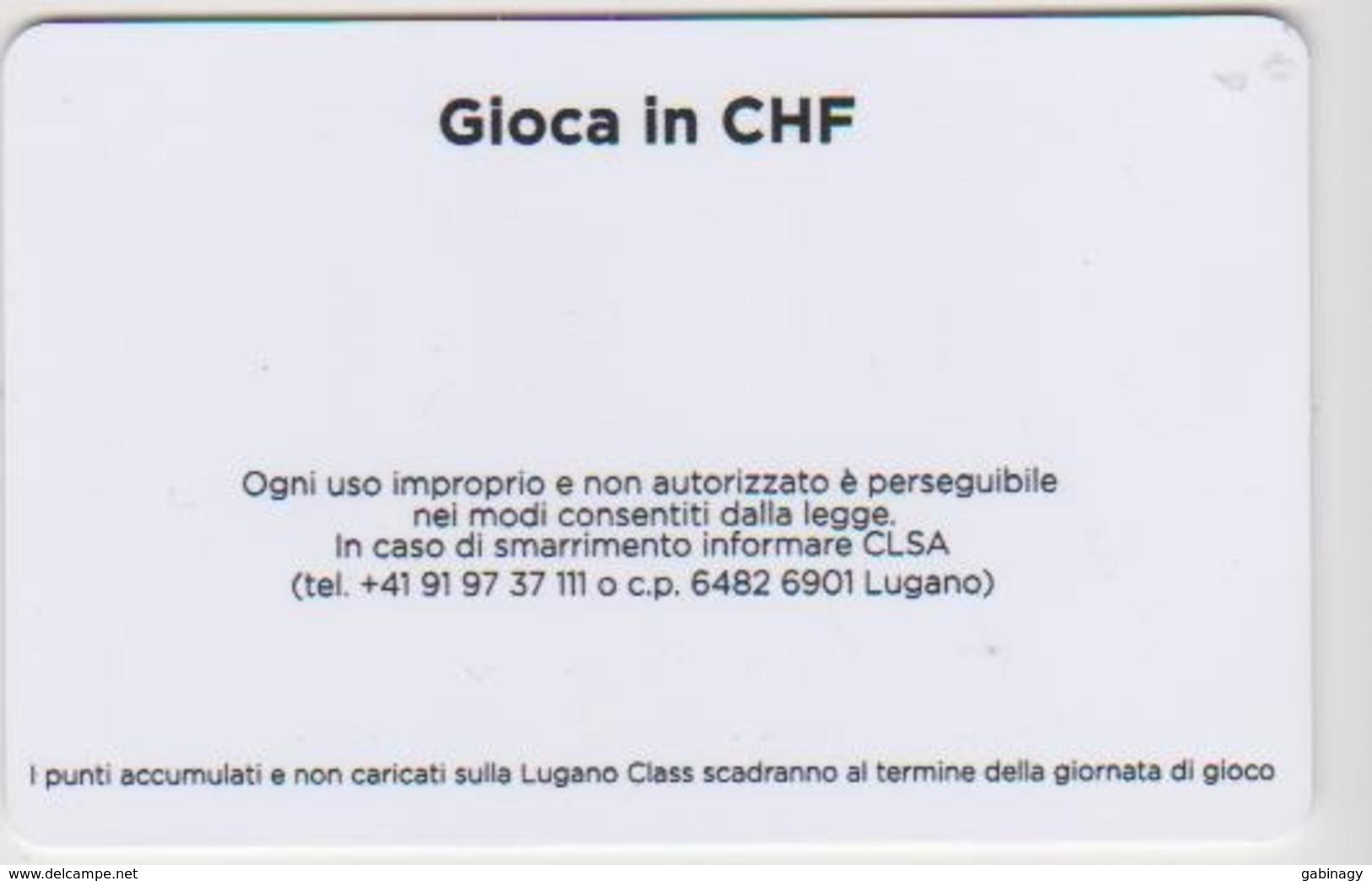 CASINO CARD - 431 - SWITZERLAND - CHF GIOCA IN FRANCHI - Casino Cards