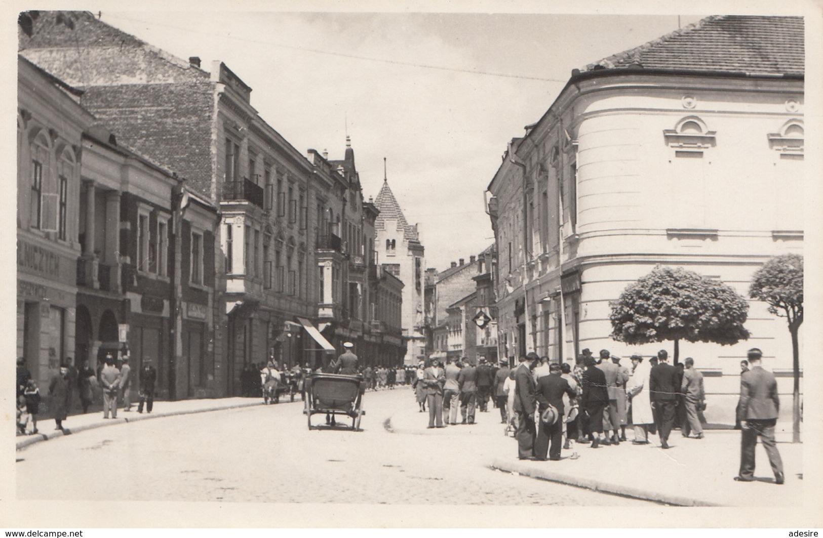 NOVY SACZ - Ulica Jagiellonska, Fotokarte Um 1935 - Pologne