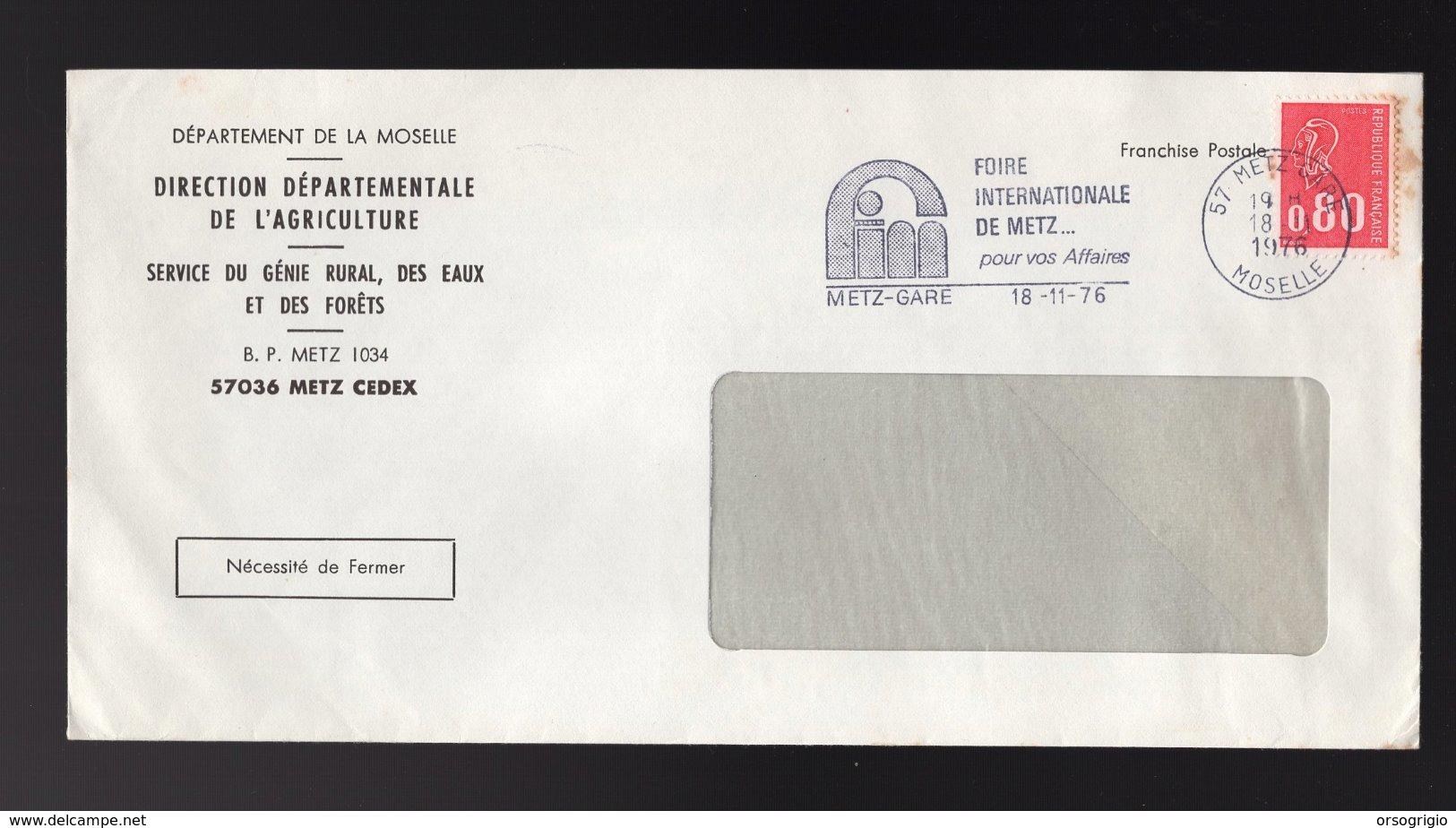 FRANCIA - 57  METZ  -  FOIRE INTERNATIONALE DE METZ  Pour Vos Affaires - Fabbriche E Imprese