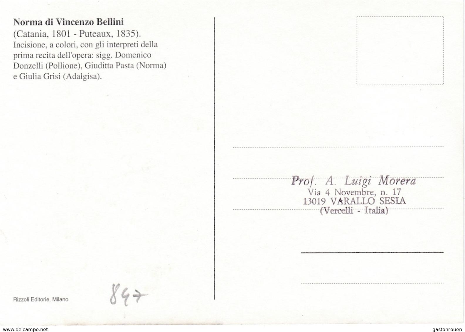 Carte Maximum Musique Opéra San Marin San Marino 1999 Bellini Norma - San Marino