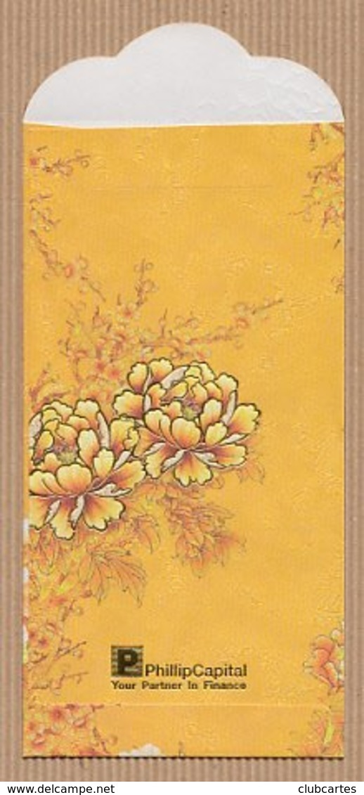 CC Chinese New Year PHILLIP CAPITOL 1/2 CHINOIS Red Pockets CNY Card - Cartes Parfumées