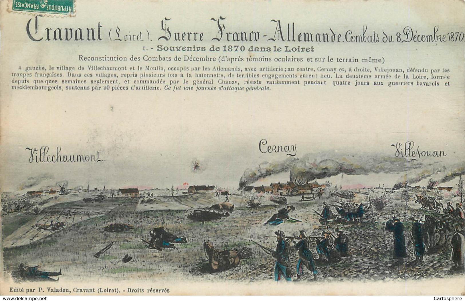 CPA 45 Loiret Cravant Guerre Franco Allemande Souvenirs De 1870 Reconstitution Cernay Villechaumont Villejouan Militaria - Guerres - Autres