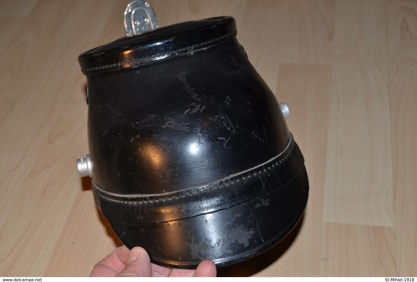 Shako De La Polizei De Berlin Années 30/40 Bien Marqué Du Fabricant Erel à L'intérieur - Hoeden