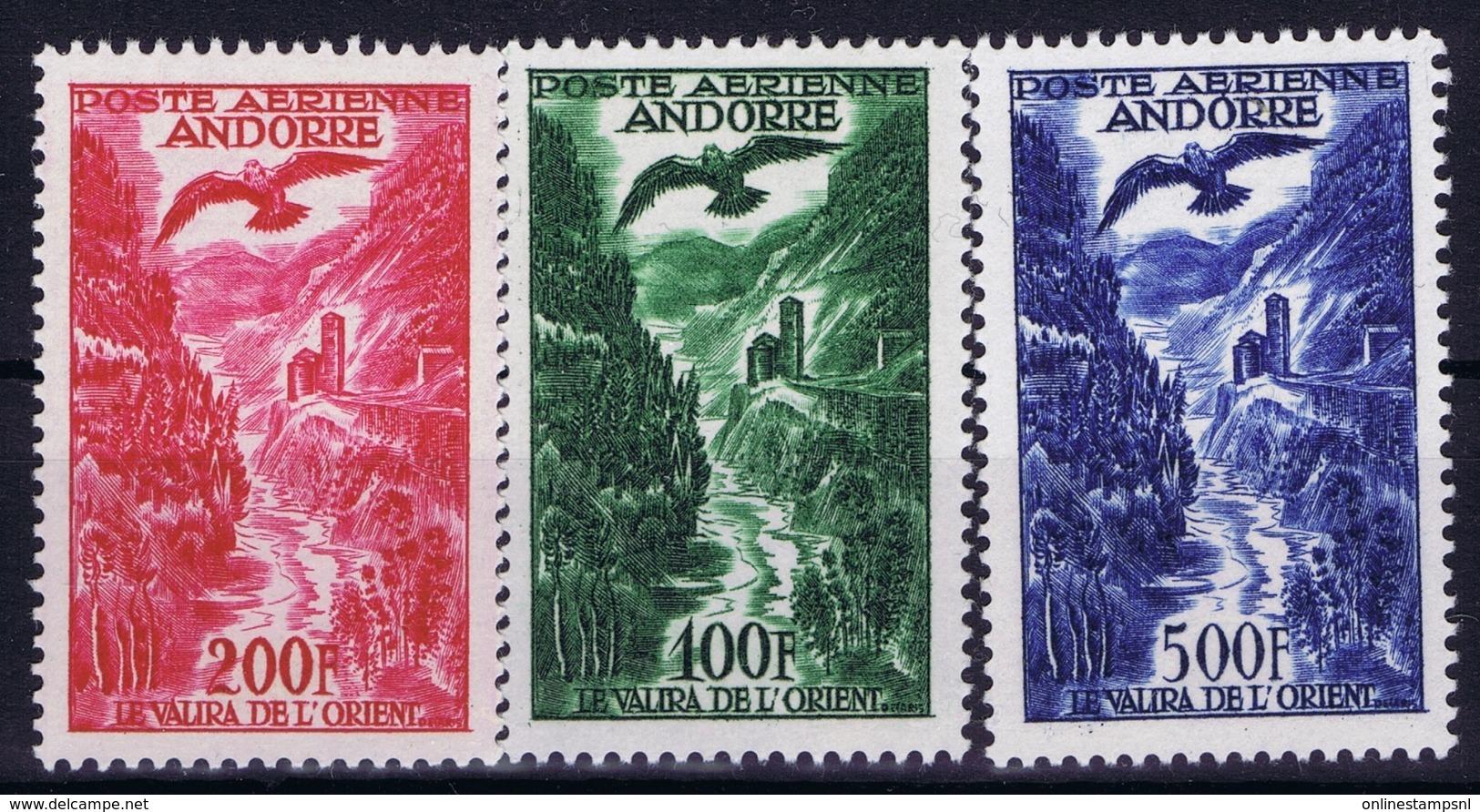 Andorre Mi 158 - 160 Airmail Postfrisch/neuf Sans Charniere /MNH/** - Französisch Andorra