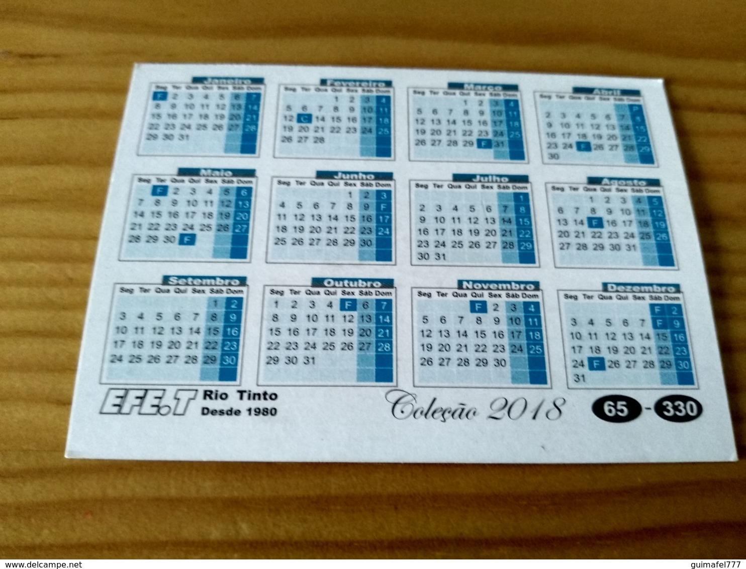 """Portuguese Pocket Collection Calendar,Calendário De Colecção """"Old Car, Simca 1000 De 1963"""" Year 2018 - Small : 2001-..."""