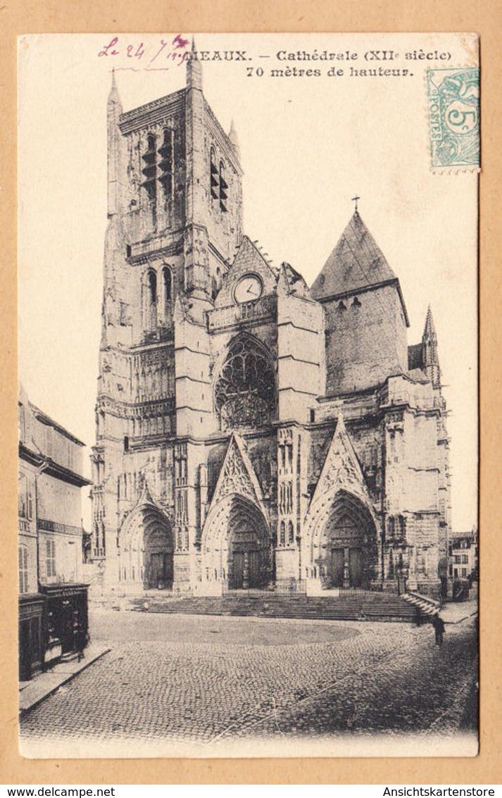 CPA Meaux, Cathedrale, Gel. 1905 - Meaux