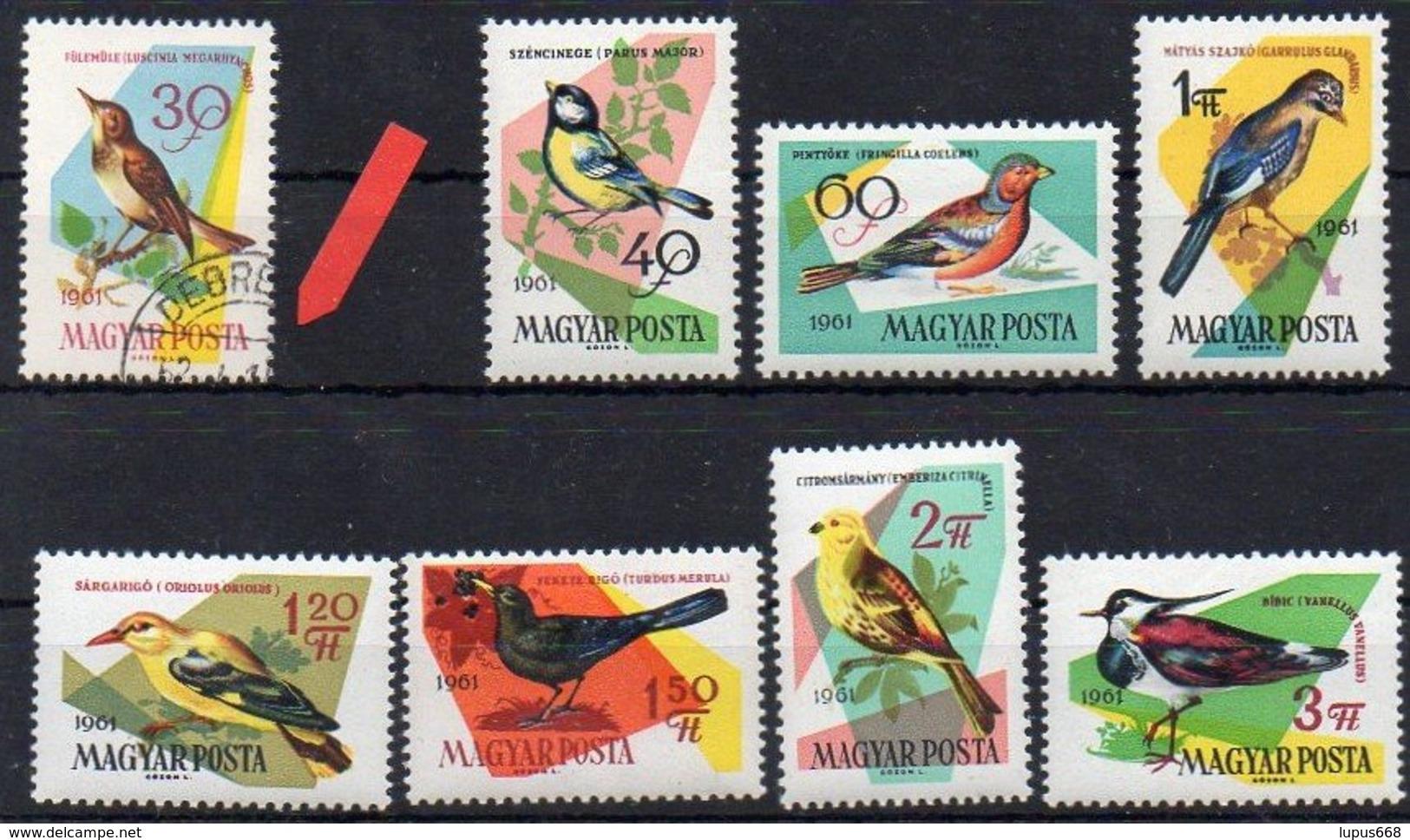 Ungarn 1961 MiNr. 1807 O/used , 1808-1815 **/mnh ; Singvögel - Unclassified