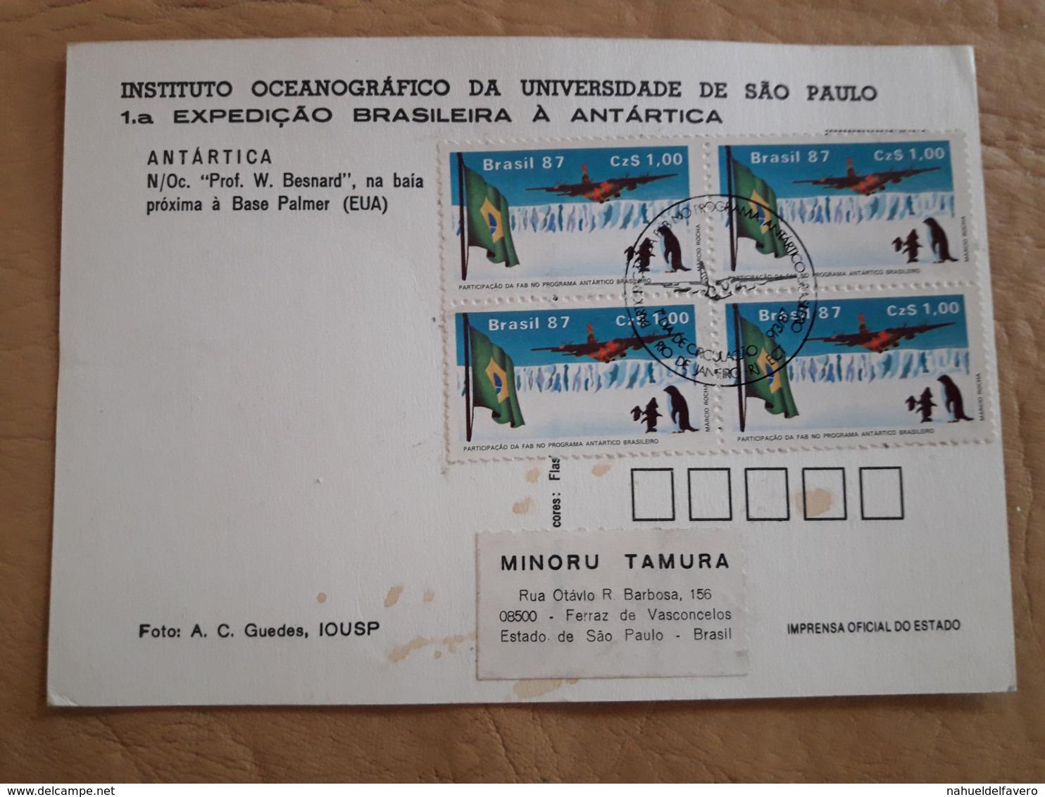 Brésil Première Expédition Brésilienne En Antarctique 1987 - Expediciones Antárticas