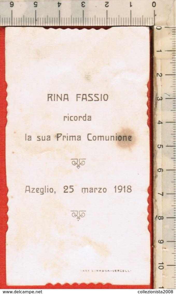 """Antico Santino Lega Eucaristica """"S.Comunione - N.10028"""" Azeglio 1918, Vedi Foto - Religion & Esotericism"""