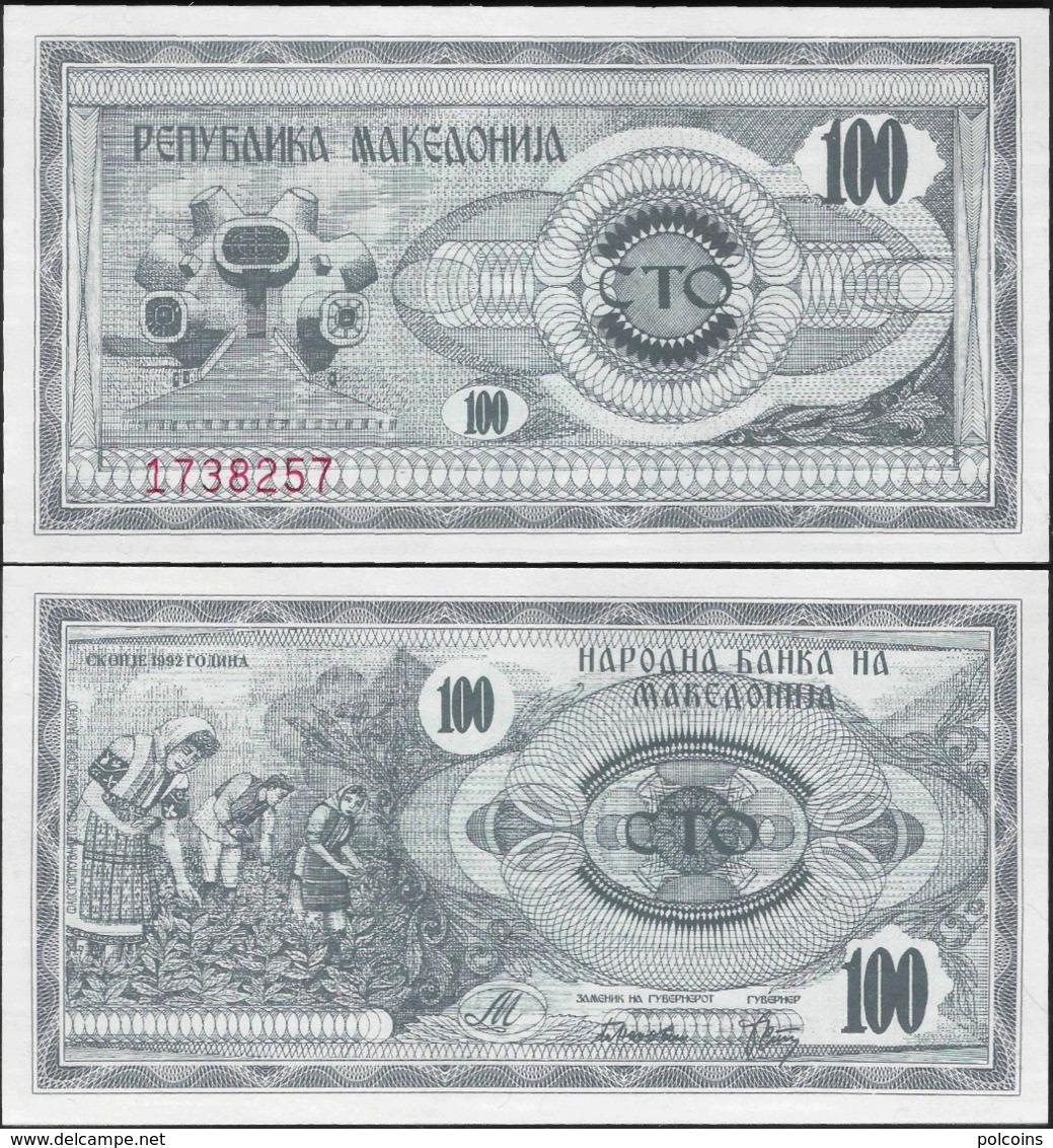 Macedonia 1992 - 100 Dinars - Pick 4 UNC - Macedonia