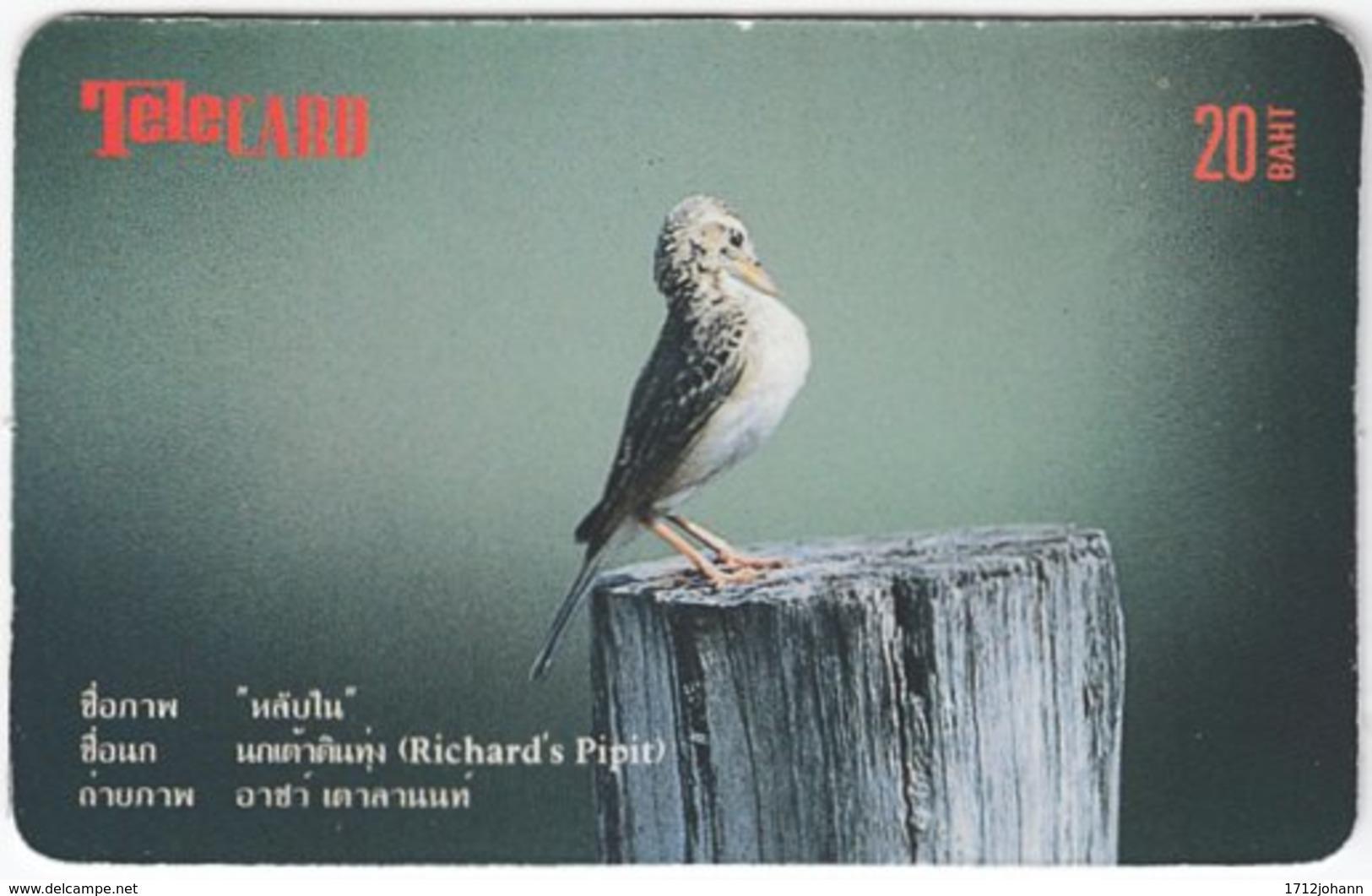 THAILAND F-095 Prepaid TeleCard - Animal, Bird - Used - Thailand