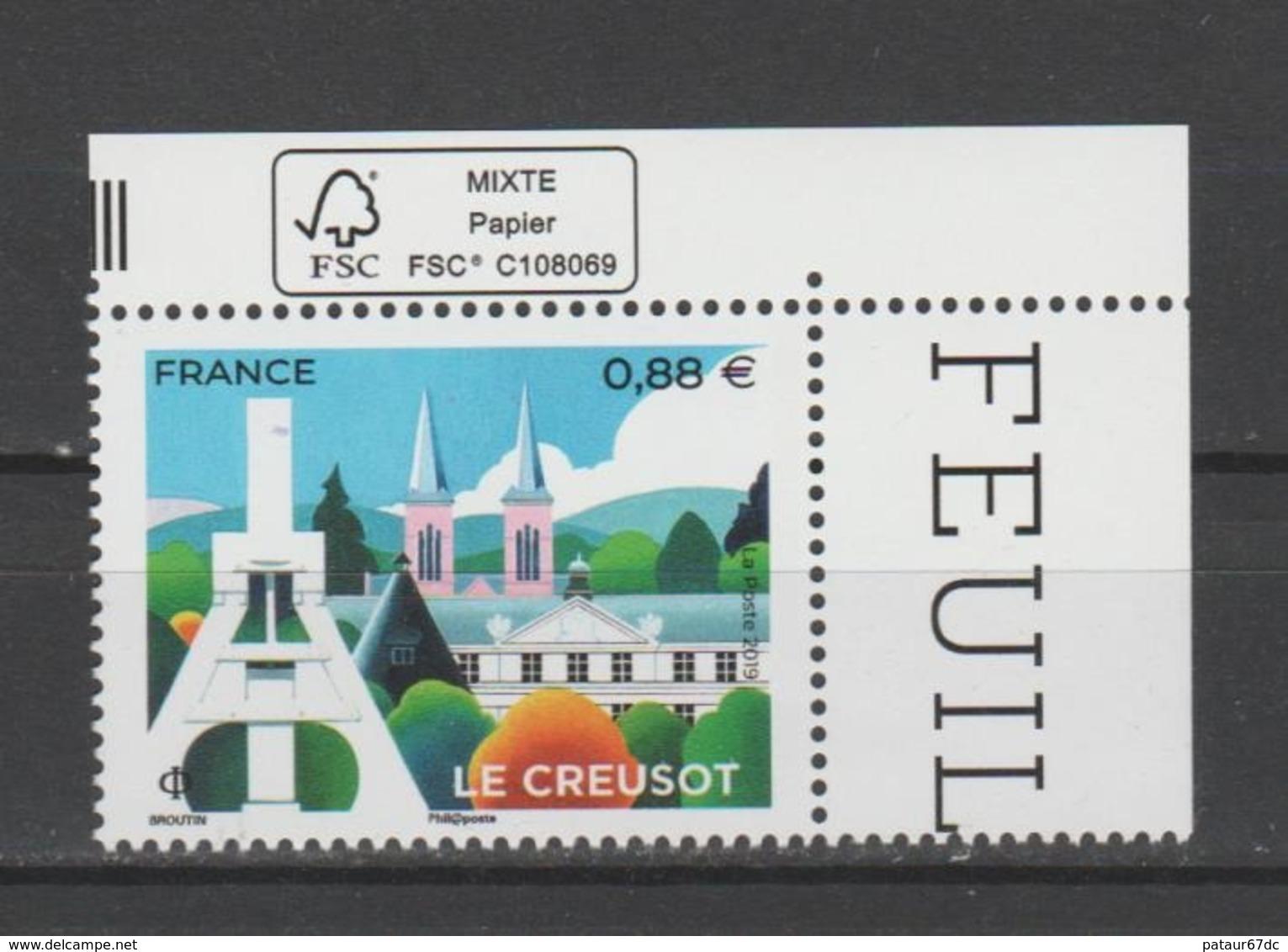 FRANCE / 2019 / Y&T N° 5345 ** : Le Creusot (Saône-et-Loire) X 1 CdF FSC - Gomme D'origine Intacte - Neufs