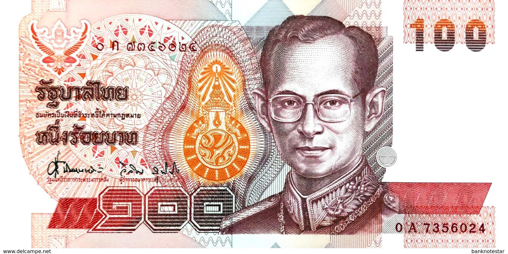 Thailand 100 Bath, P-97 (1994)- UNC - Signature 62 - Thailand