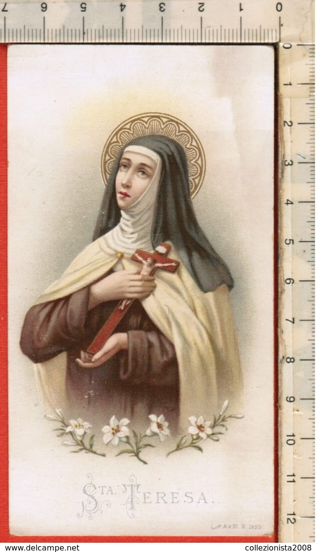 "Antico Santino ""Santa Teresa - A&M B. 1895"" - Religion & Esotericism"
