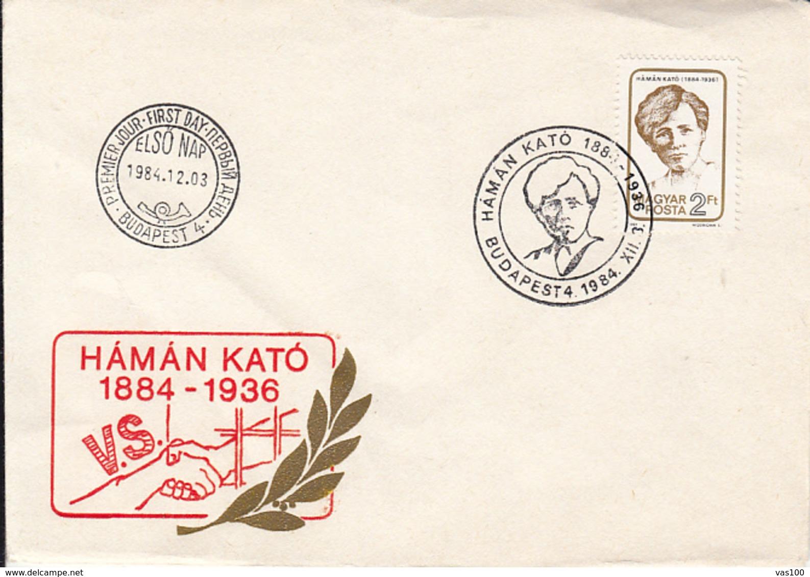 LANGUAGES, ESPERANTO, HAMAN KATO, SPECIAL COVER, OBLIT FDC, 1984, HUNGARY - Esperanto