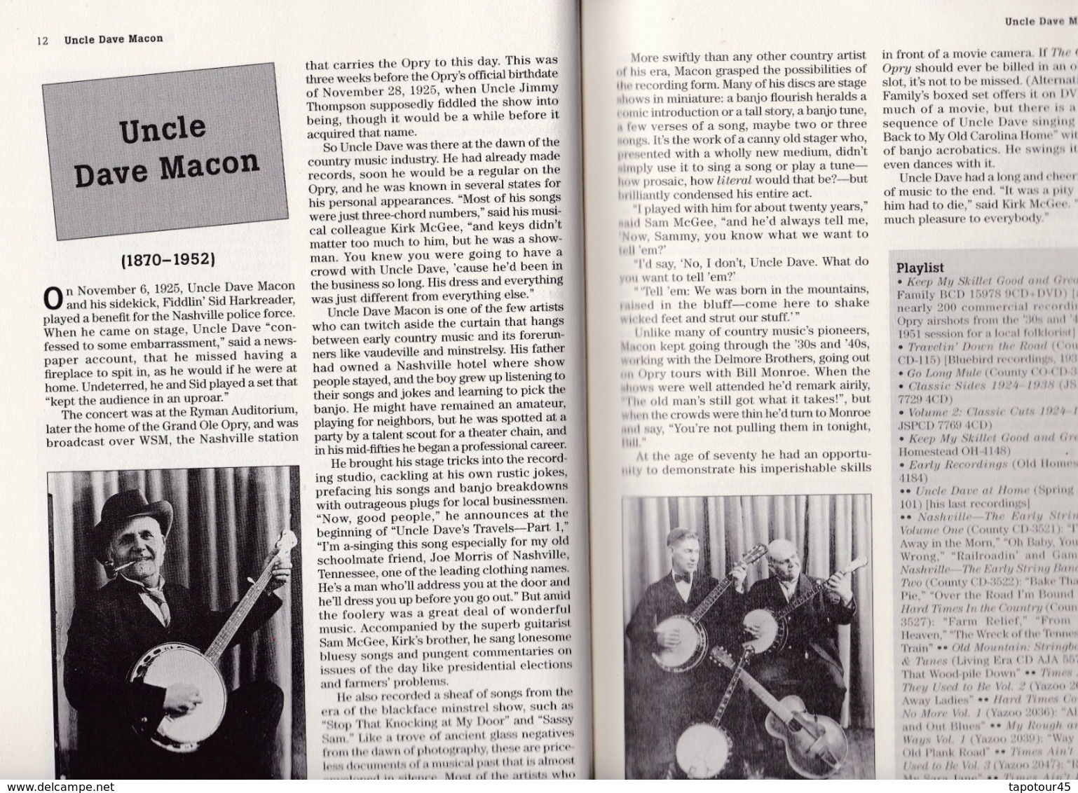 """C 5) Livre, Revues >  Jazz, Rock, Country >  """"Country Music Originals"""" Tony Russell  (+- 260 Pages) - Livres, BD, Revues"""