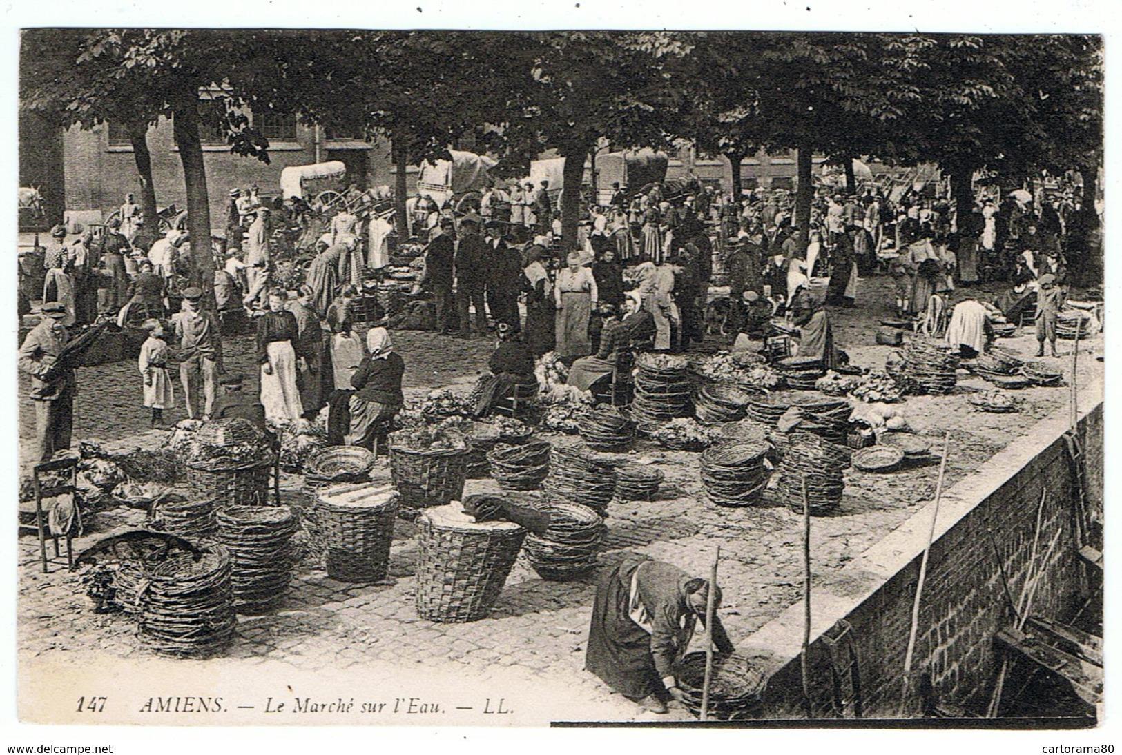 Amiens / Le Marché Sur L'Eau / 1908 / Ed. LL - Amiens