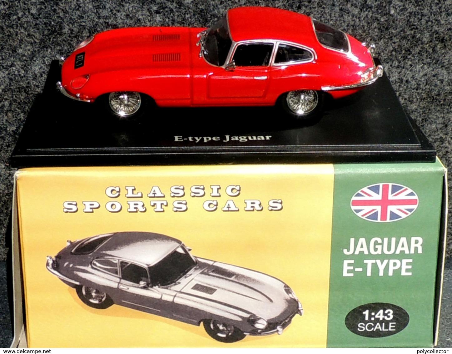 JAGUAR Type E Classic Sports Cars - NEUF Sous Blister & Boîte Carton - Voitures, Camions, Bus
